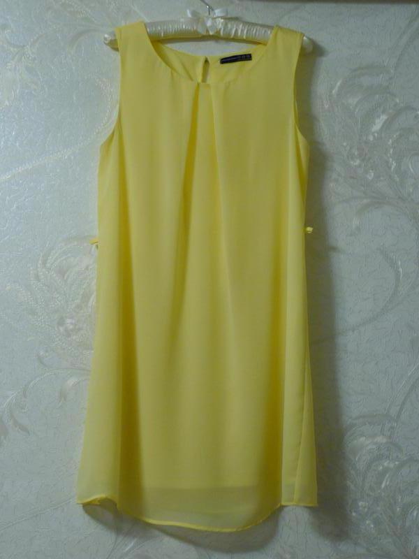 d9d754ce777 Нежное шифоновое платье лимонного цвета Atmosphere