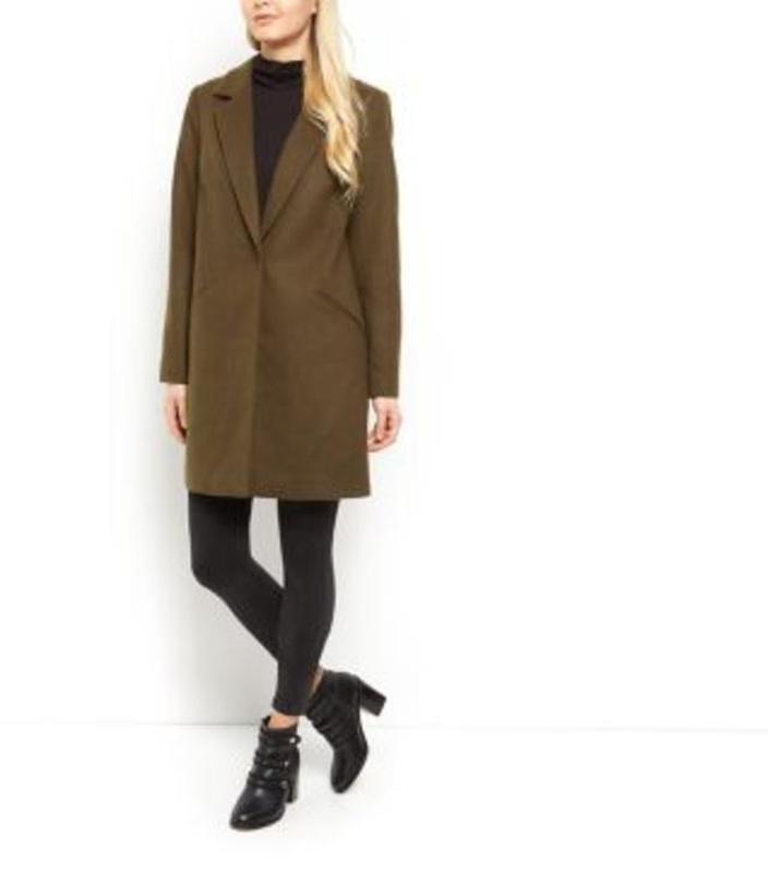 578bd1840be Новое! стильное модное пальто модного цвета хаки осеннее весеннее1 ...