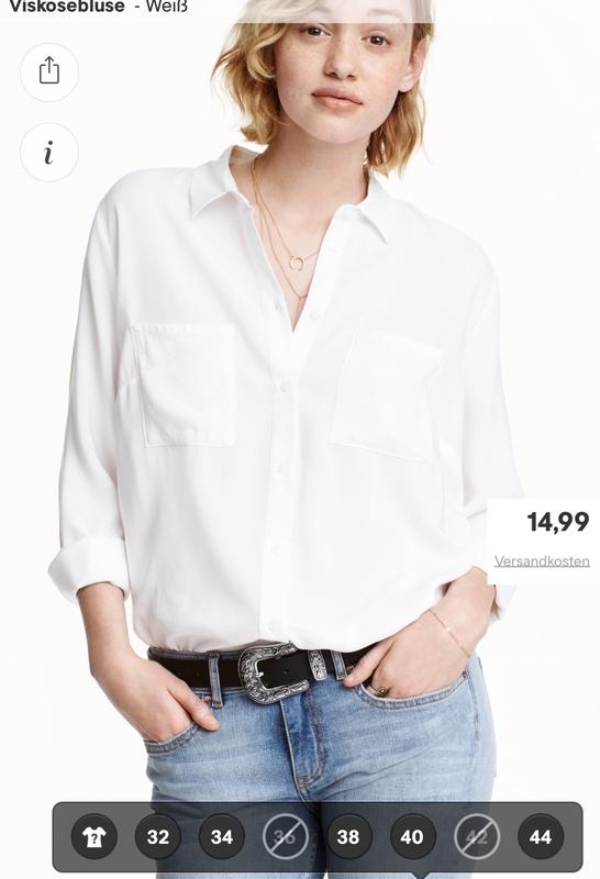 7191c1ee8c7 Стильная белая рубашка h m1 фото ...