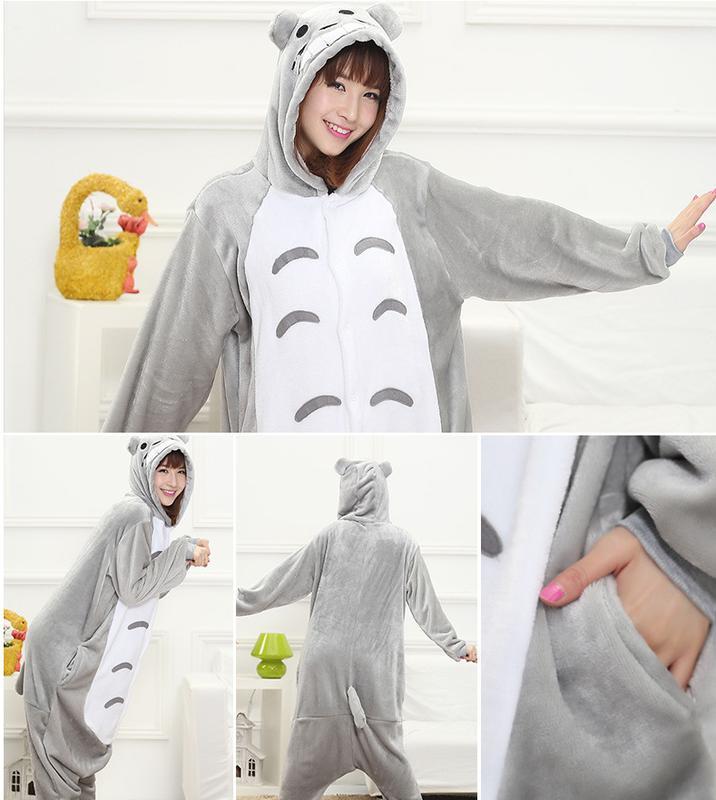 Пижама кигуруми тоторо аниме kigurumi totoro серый кот1 ... 08cb17c5fc1fe