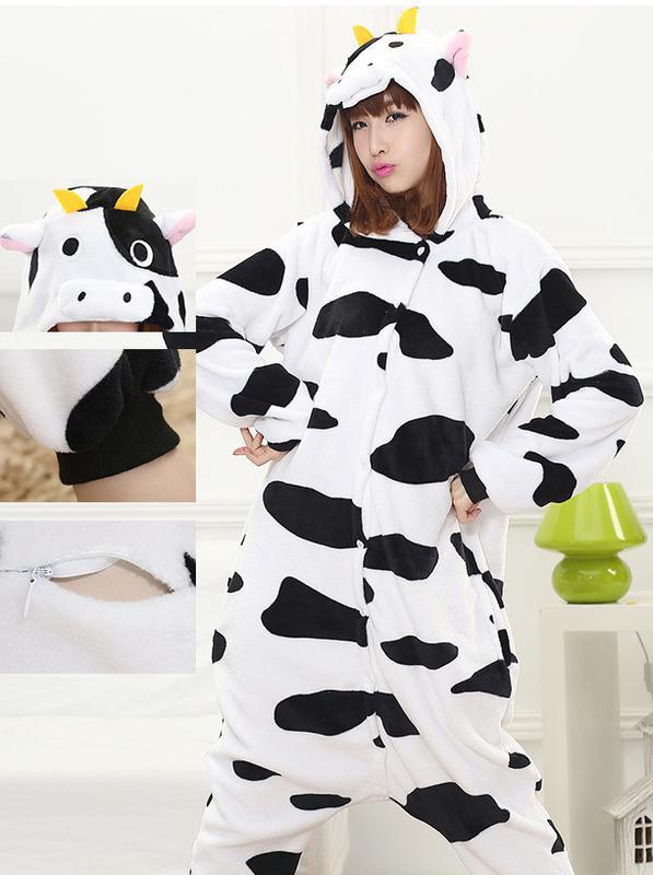 Пижама кигуруми корова kigurumi домашний костюм1 ... 79954484c3c0e