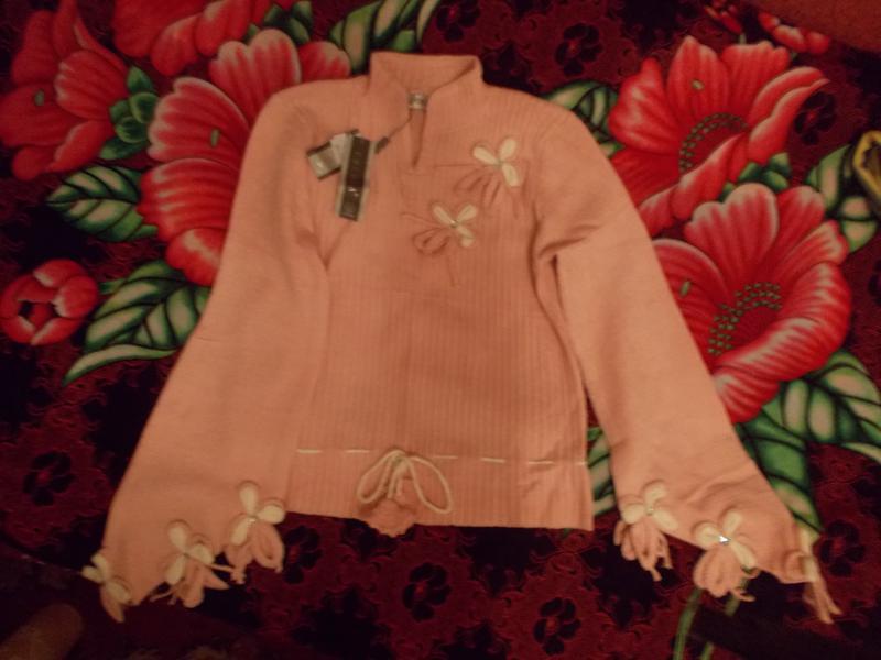 f16d315f497 Розовая кофточка с модными в этом сезоне рукавами!1 ...