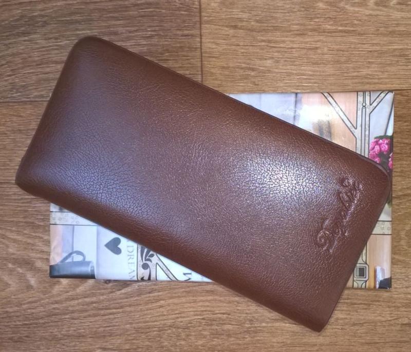 Коричневый мужской кожаный клатч портмоне бумажник, цена - 350 грн, #31407197, купить по доступной цене | Украина - Шафа