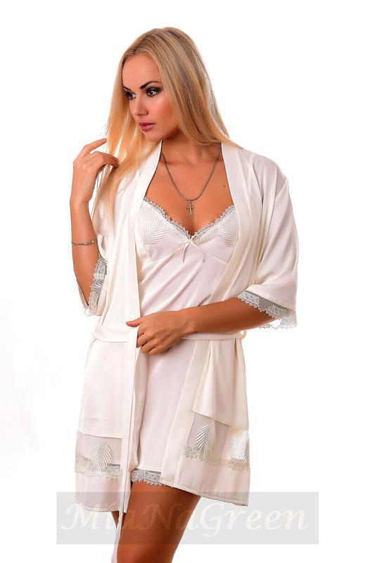 f3aa239823b4 Комплект шелковый ночная рубашка халат к07н, цена - 839 грн ...