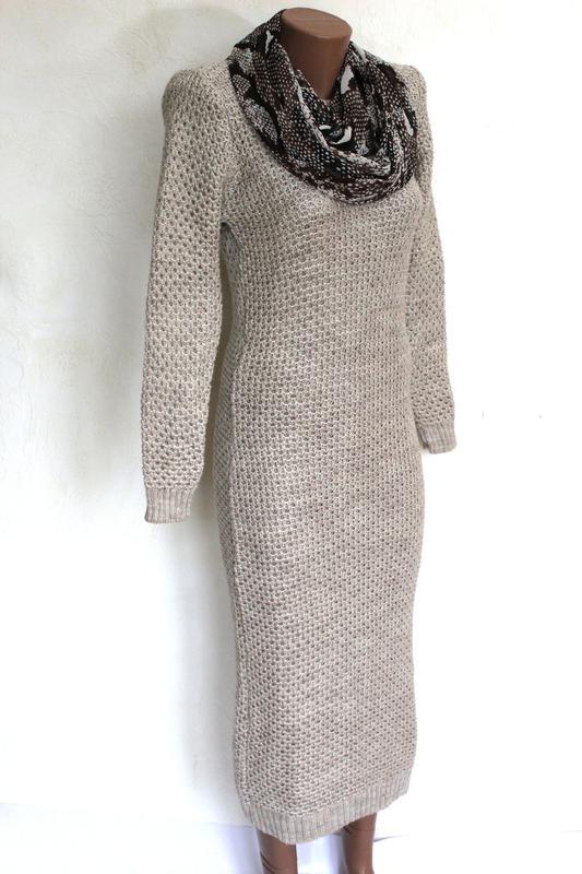 249f21b5782 Шерстяное зимнее теплое вязаное платье актуальной длины миди. доставка  бесплатно1 ...