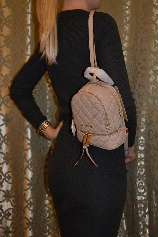 963b1c463cba Michael kors rhea extra-small quilted-leather backpack рюкзак сумка1 фото  ...