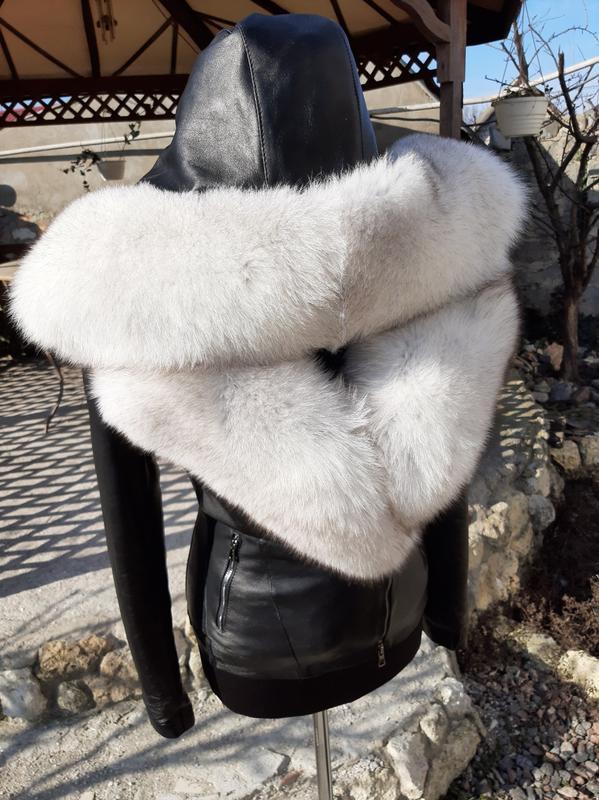 Куртка из натуральной кожи и натуральным мехом финского песца, цена - 9000 грн, #31971119, купить по доступной цене | Украина - Шафа