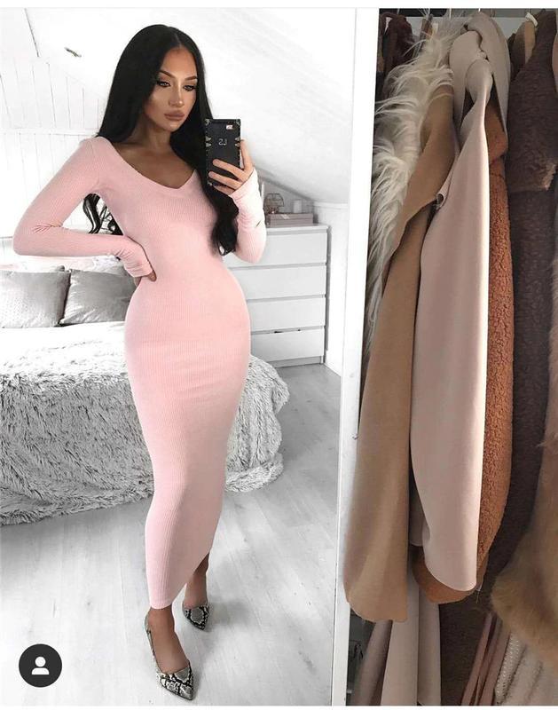 Облегающее нежное платье длинное Berna, цена - 330 грн, #32281438, купить по доступной цене   Украина - Шафа