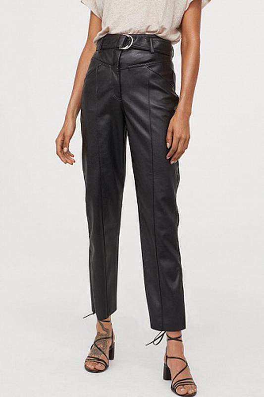 Стильные кожаные брюки h&m/ pu кожа /p.m,l (H&M) за 700 грн. | Шафа