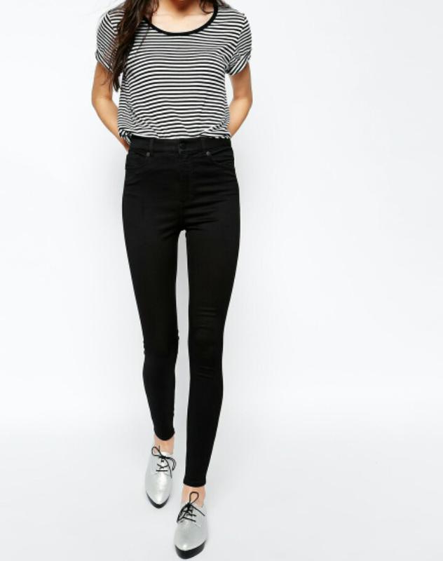 джинсы черные с высокой талией 5
