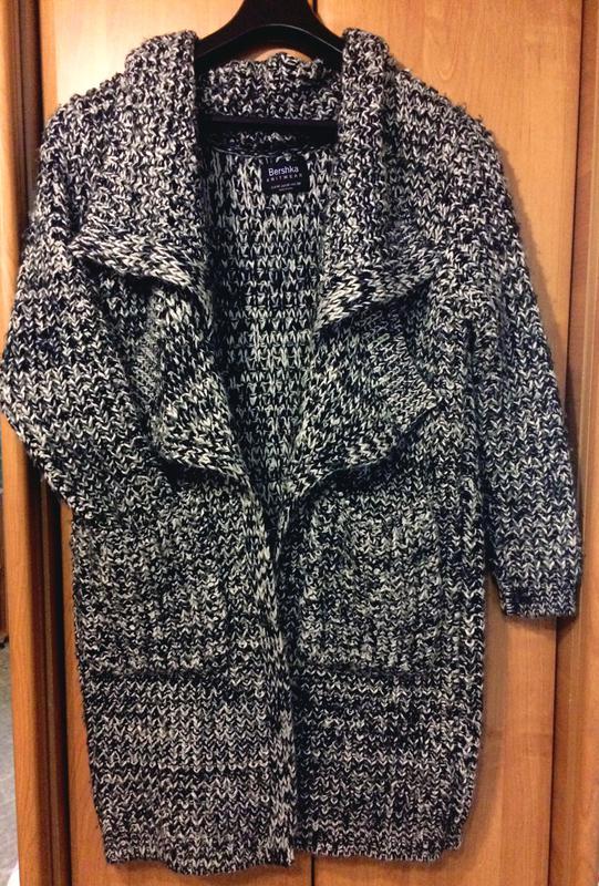 вязаное пальто оверсайз бойфренд Bershka цена 400 грн 3799328