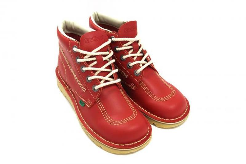 Яркие кожаные ботинки, натуральная кожа красные kickers оригинал Kickers, цена - 750 грн, #33483233, купить по доступной цене | Украина - Шафа