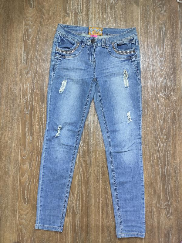 Стильные легкие рваные джинсы с потертостями George, цена - 199 грн, #34376095, купить по доступной цене | Украина - Шафа