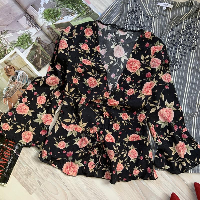 Блуза с воланами цветочный принт zara ZARA, цена - 150 грн, #34470554, купить по доступной цене | Украина - Шафа