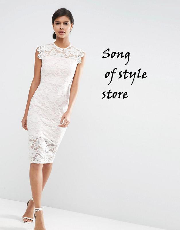 55dc252ae34 Asos кружевное платье-футляр с контрастной подкладкой1 фото ...