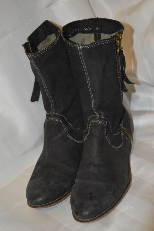 Ботильони черевики шкіряні laura розмір 40 41 95a136b281197