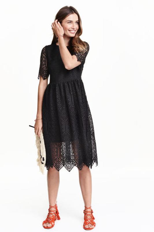 f244a4d727e Новое черное кружевное платье h m1 фото ...