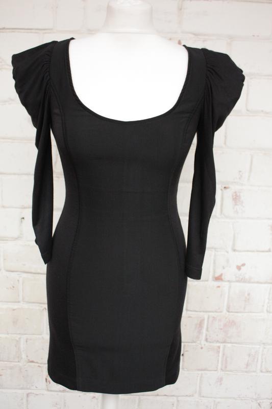 0fb9e29ad3a Трикотажное стрейчевое черное мини платье от zara trf