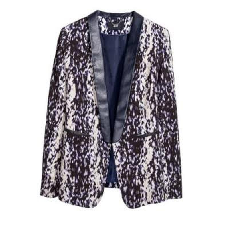 Стильный пиджак с принтом и кож вставками h&m (H&M) за 150 грн. | Шафа
