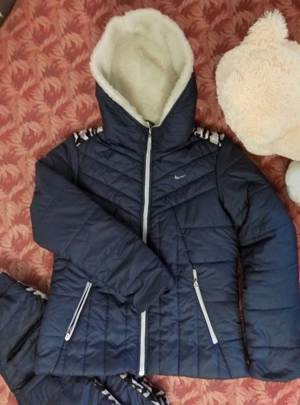 7c583ecd Теплый женский зимний спортивный костюм на синтепоне синий1 фото ...