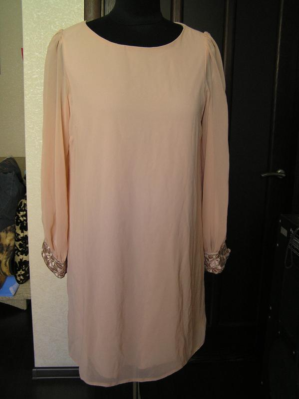 Шифоновое платье свободного кроя купить