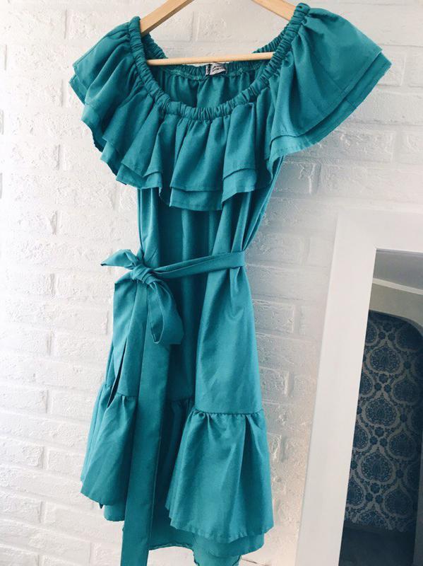 Платье пояс рюши