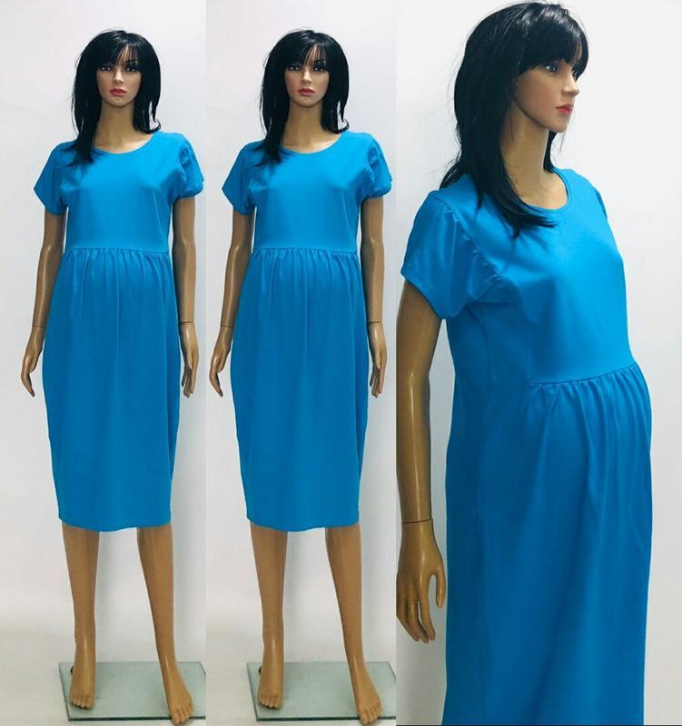 Платье летнее для беременных с коротким рукавом однотонное, цена - 260 грн, #36410555, купить по доступной цене | Украина - Шафа