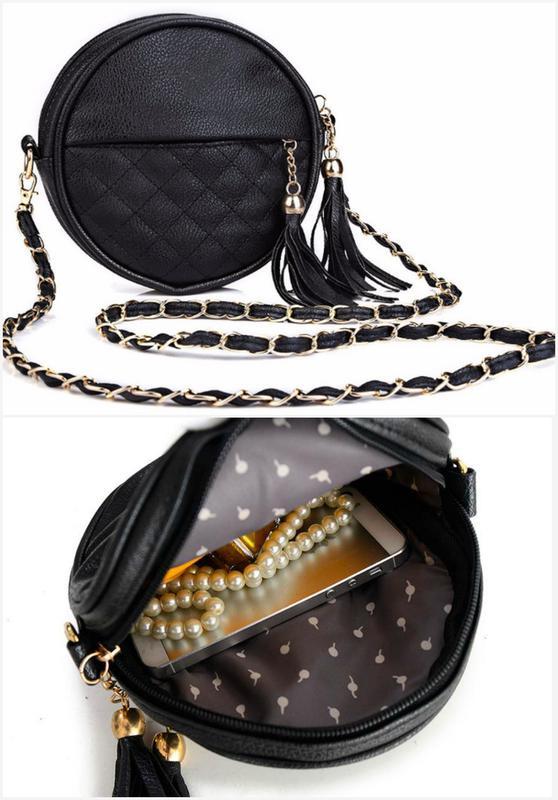 Круглая черная сумка через плечо (кроссбоди)1 ... c66110f056e6f