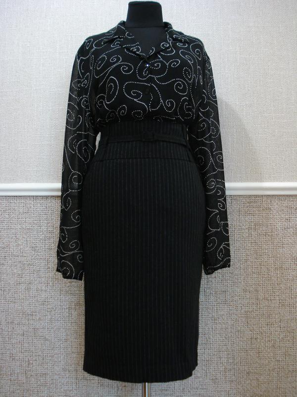 c4a721a37a4 Шерстяная классическая юбка-карандаш с завышенной талией United ...