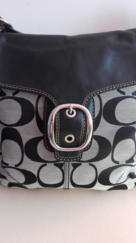 Сумка vip!!! кожа+ текстиль американского бренда coach. ... 88d993623b006
