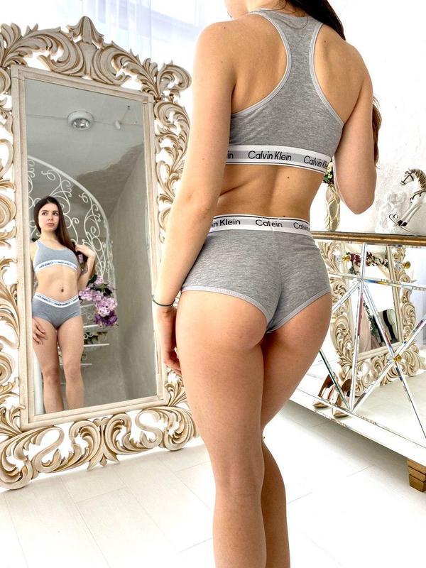 Женский комплект нижнего белья шортики боди про массажер