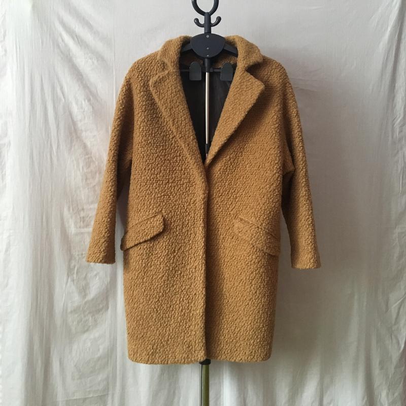 582cf6610a9 Модное шерстяное пальто бойфренд oversize букле осеннее весеннее1 фото ...