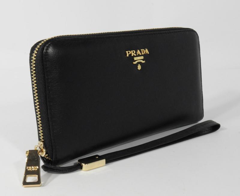 f649af3c822f Кошелек женский кожаный на молнии prada 60019-a черный, расцветки1 фото ...