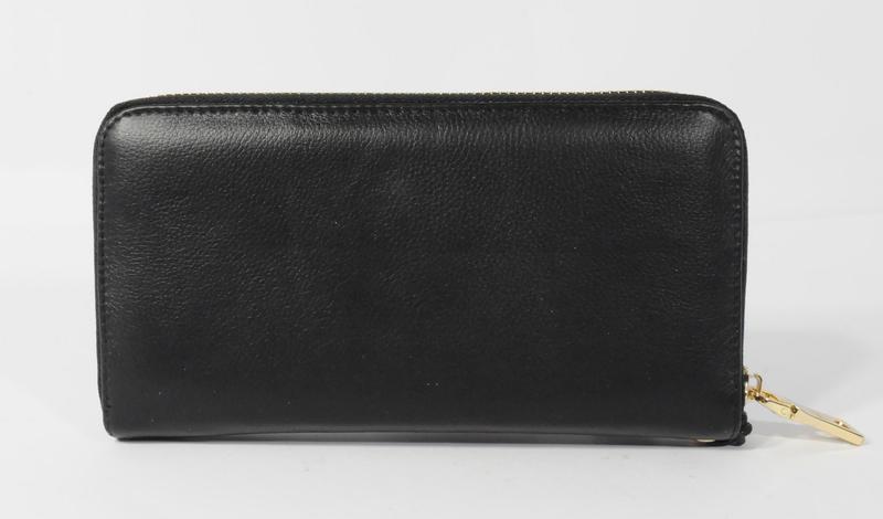 0678d76623f7 ... Кошелек женский кожаный на молнии prada 60019-a черный, расцветки4 фото