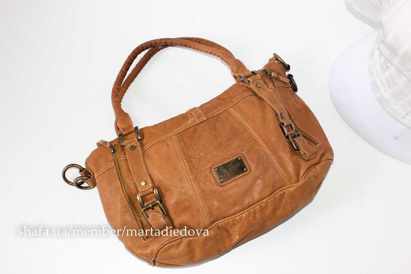 Кожаная вместительна сумка, натуральная кожа, шопер Fiorelli, цена - 480 грн, #37309855, купить по доступной цене   Украина - Шафа
