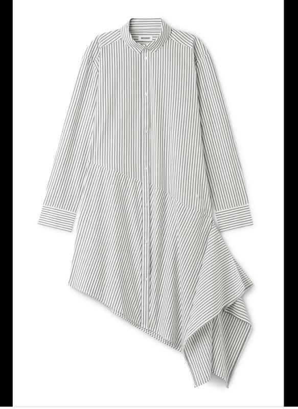 Трендовое ассиметричное хлопковое платье#рубашка шведского бренда weekday в полоску Weekday, цена - 690 грн, #37374124, купить по доступной цене   Украина - Шафа