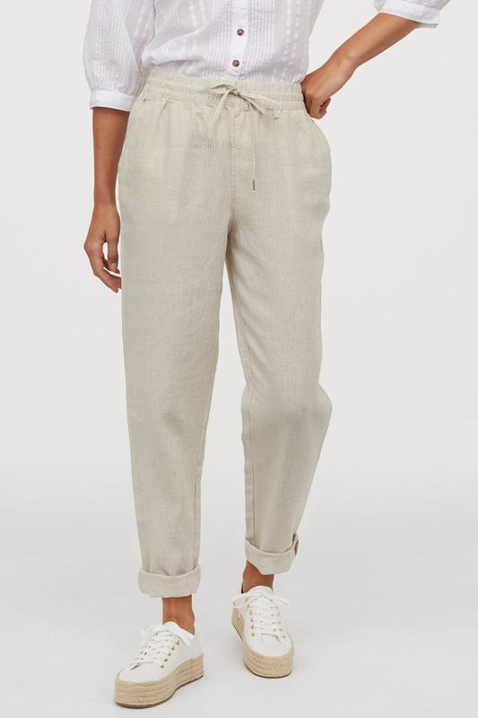 Льняные брюки джоггеры h&m H&M, цена - 400 грн, #37381738, купить по доступной цене   Украина - Шафа
