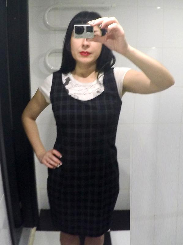 094639370ff Строгое классическое платье миди в клетку rebeca sheldon (new look ...