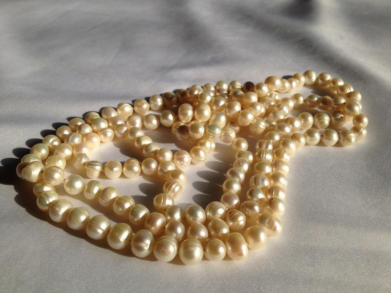 Длинные бусы из жемчуга в стиле chanel 120см, цена - 950 грн ... aecacb441ba