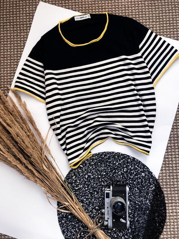 Футболка укорочена оверсайз полосата кофта морячка футболка в полоску ZARA, цена - 170 грн, #37669233, купить по доступной цене   Украина - Шафа