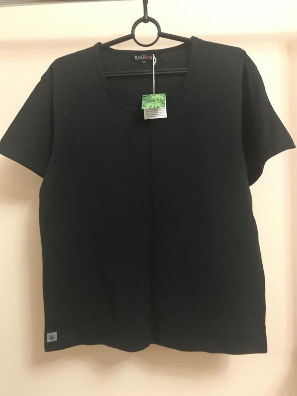 Чёрная футболка из конопли и органического хлопка, цена - 250 грн, #37746661, купить по доступной цене | Украина - Шафа