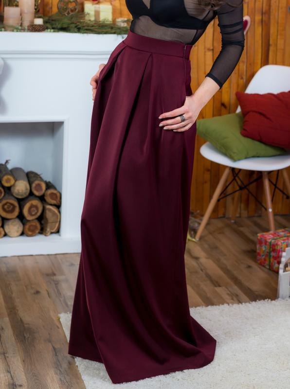 Фото юбки в пол цвет