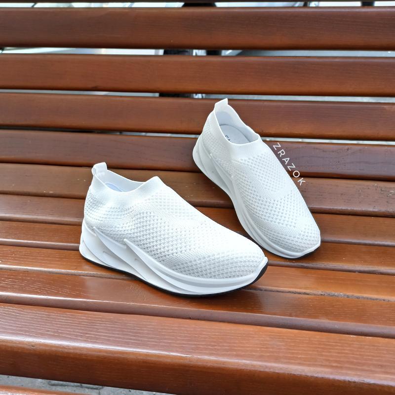 Кроссовки слипоны без шнурков текстильные  белые летние shark adidas, цена - 349 грн, #38047181, купить по доступной цене | Украина - Шафа