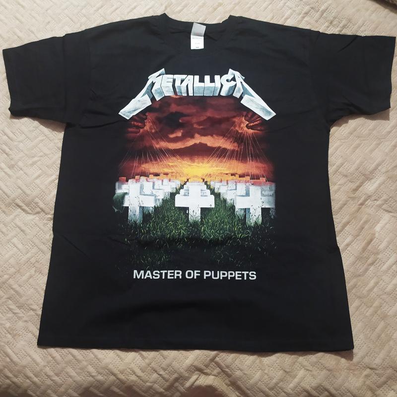Мужская черная футболка metallica xl Fruit Of The Loom, цена - 235 грн, #38335627, купить по доступной цене   Украина - Шафа