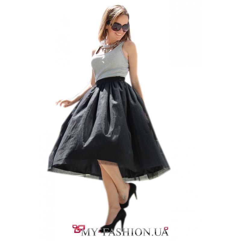 Пышная юбка миди, солнце с яркими лентами Ручная Работа, цена - 185 грн, #38458522, купить по доступной цене | Украина - Шафа
