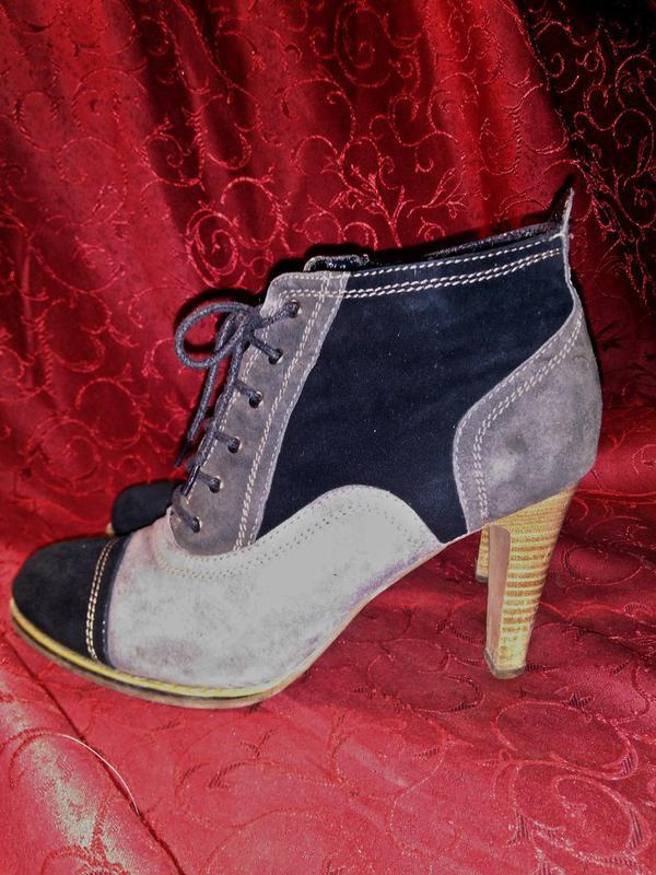 Ботильоны ботинки женские каблук натуральный замш1 ... 87d06227f6a37