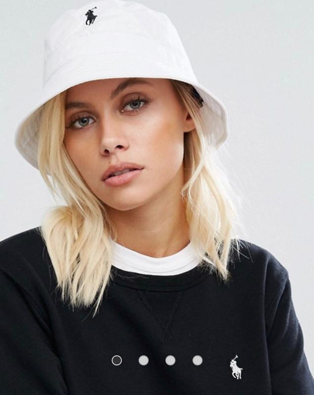 Панама женская белая брендовая поло, цена — 1100 грн, #38729746