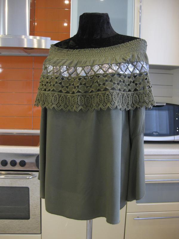 Натуральная блуза, яркий декор, италия !!!, цена - 110 грн, #38788605, купить по доступной цене | Украина - Шафа