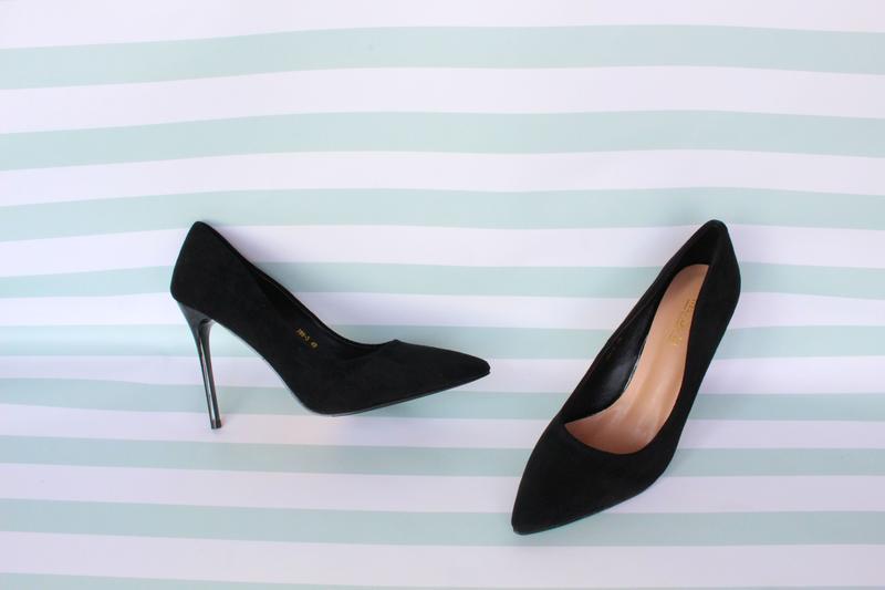 Черные туфли, лодочки 37, 38, 40 размера на шпильке, каблуке, цена - 500 грн, #39022321, купить по доступной цене | Украина - Шафа
