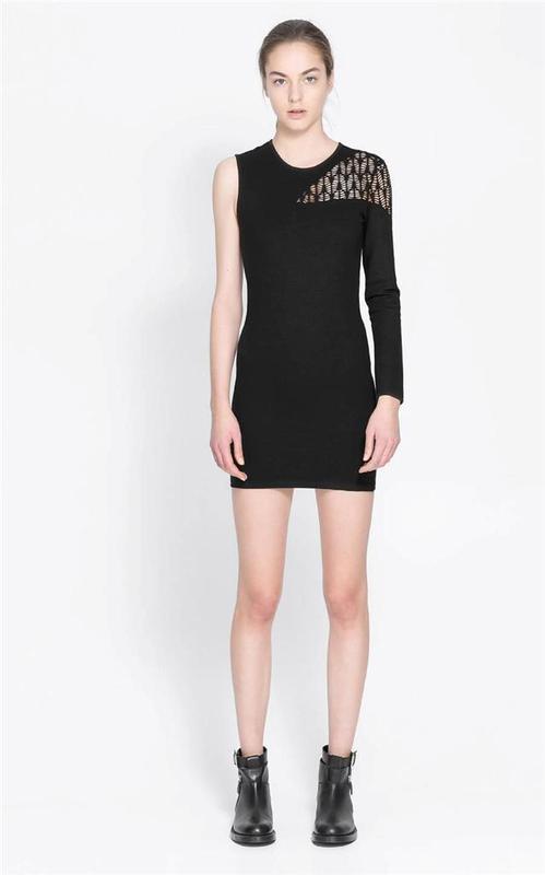 Zara платье один рукав
